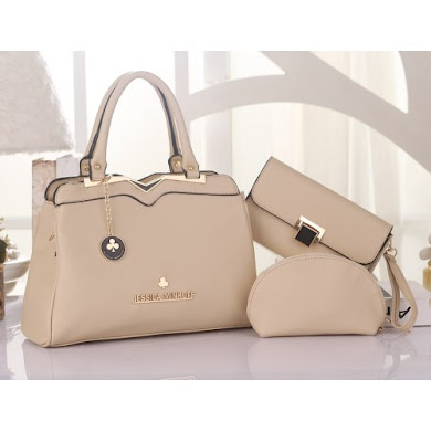 JESSICA MINKOFF BAG ( 3 in 1 Set ) - CREAM
