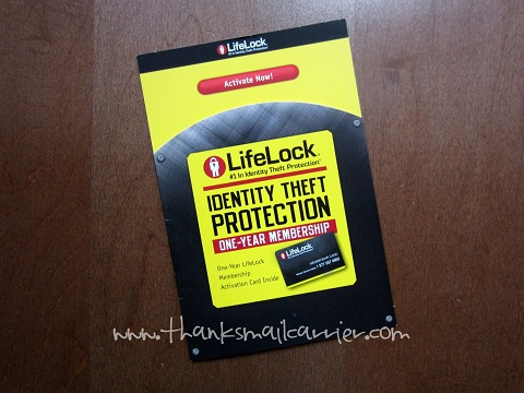 LifeLock membership card