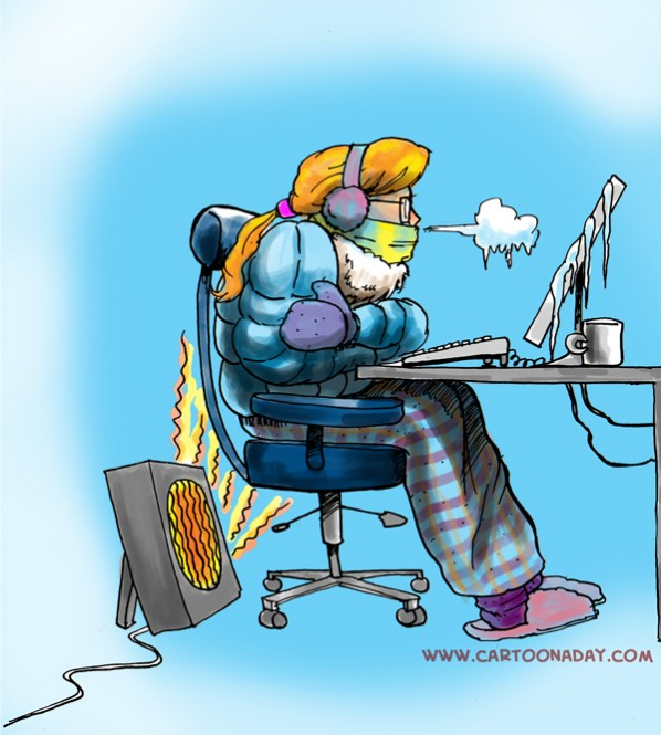 Freezing Cold Office Cartoon Images & Pictures - Becuo
