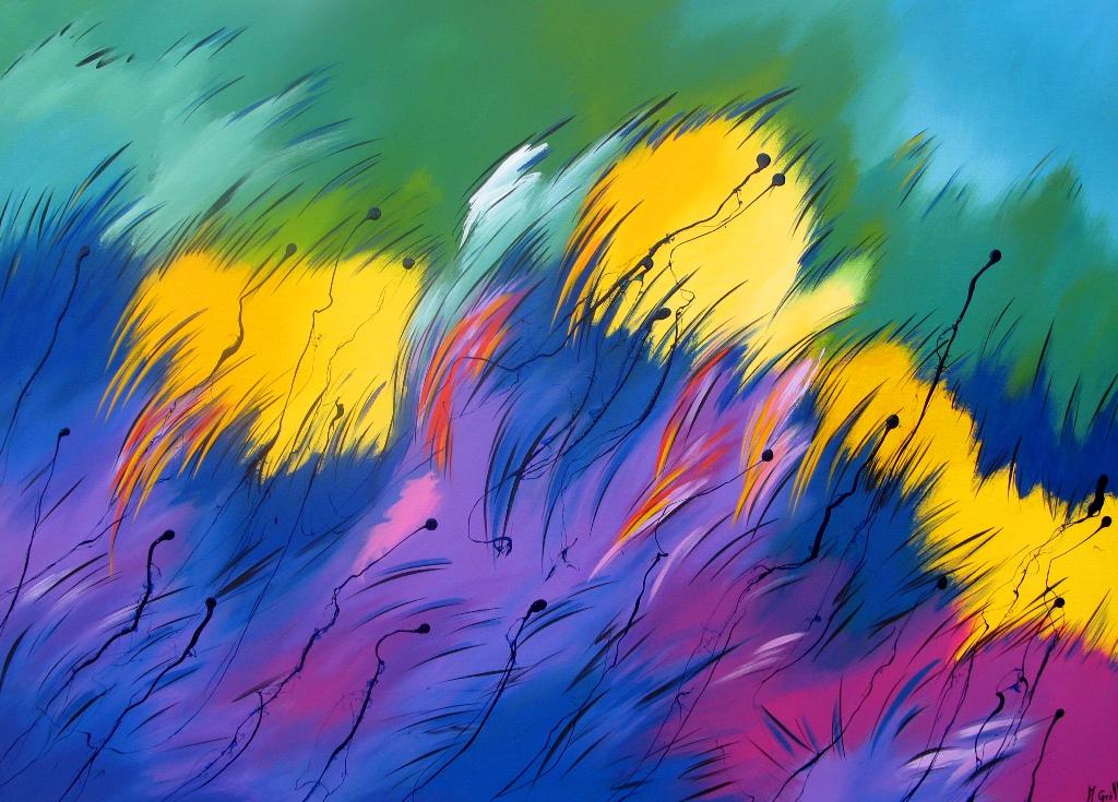 Pinturas cuadros lienzos pintura abstracta moderna for Imagenes de cuadros abstractos faciles