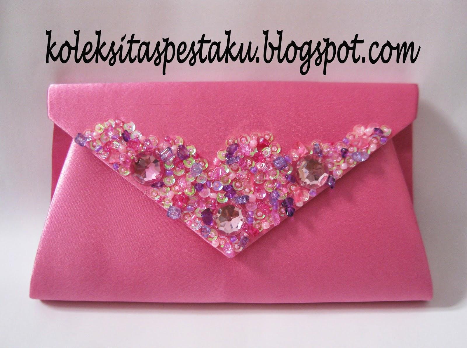 Tas Pesta Pink Payet Model Jawa Tengan Mewah Unik