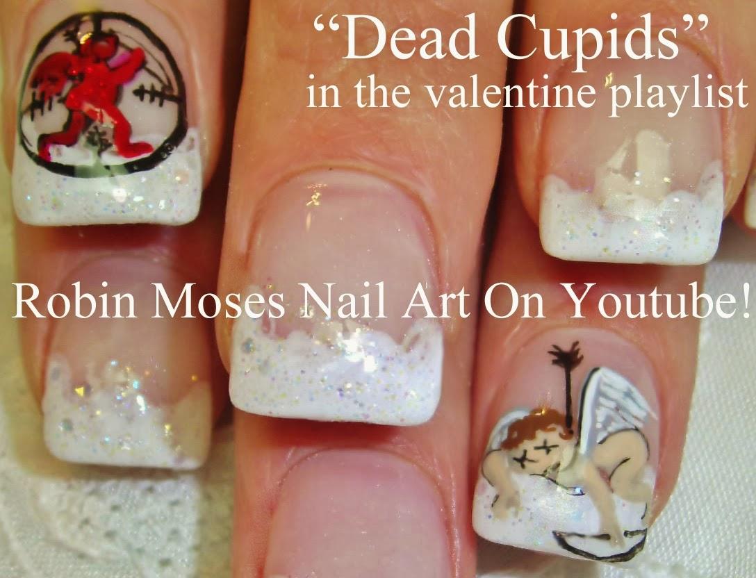 Robin moses nail art valentine nails cute valentine nails dead cupid nail art prinsesfo Images