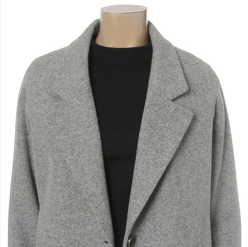 Winter Raglan Single-Breasted Coat