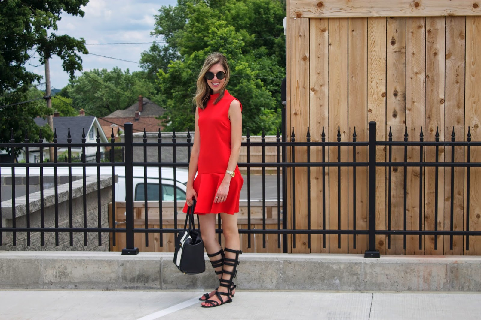Project Soiree - Gladiator Sandals - Drop Waist Dress - Fashion Blogger