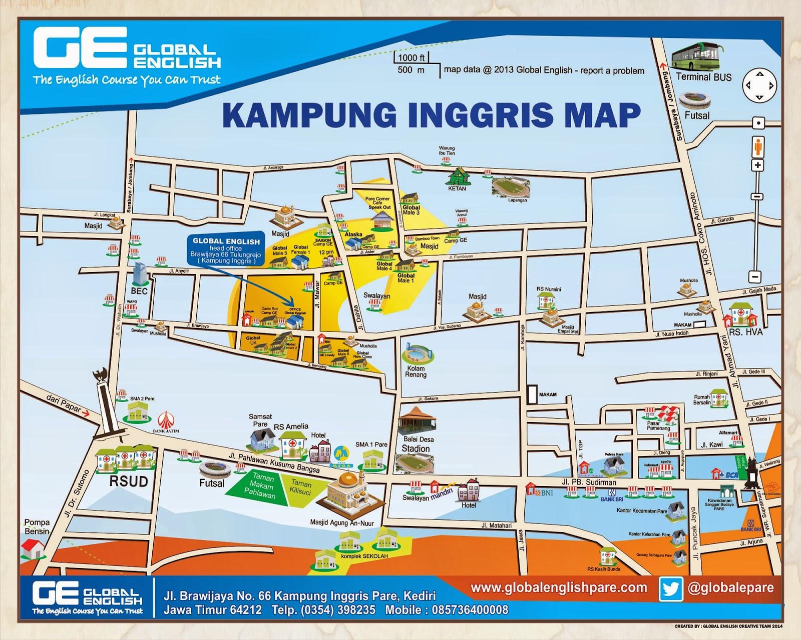 peta kampung inggris