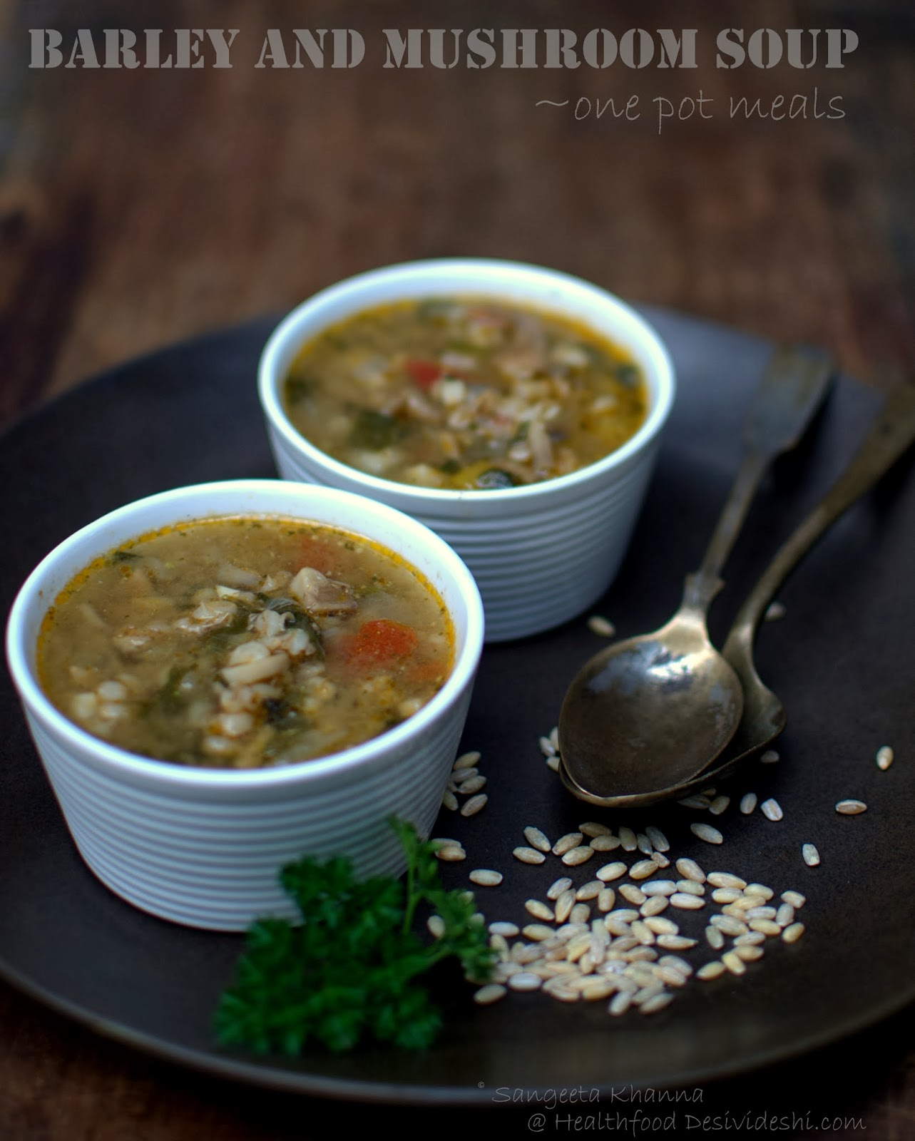 barley and mushroom soup | using alternative grains for everyday meals