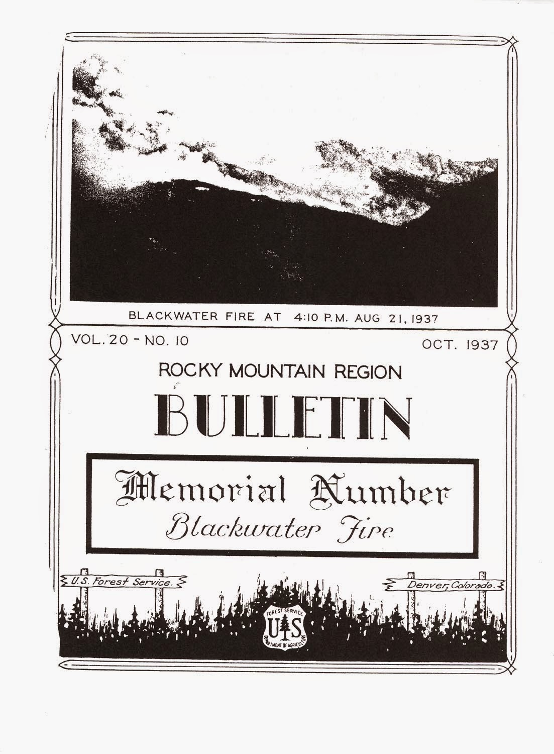 Rocky Mountain Region Bulletin - Blackwater Fire 1937
