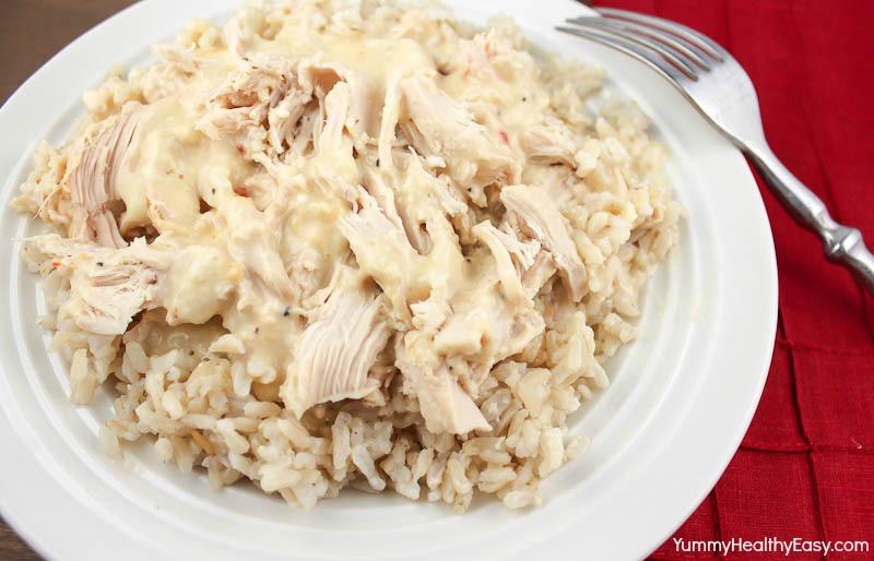 Creamy italian crock pot chicken yummy healthy easy for Easy healthy chicken crockpot recipes