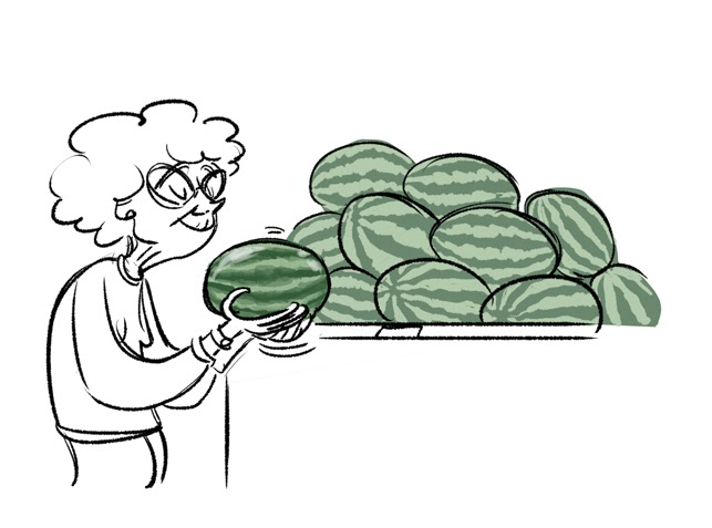how to choose watermelon by tapping