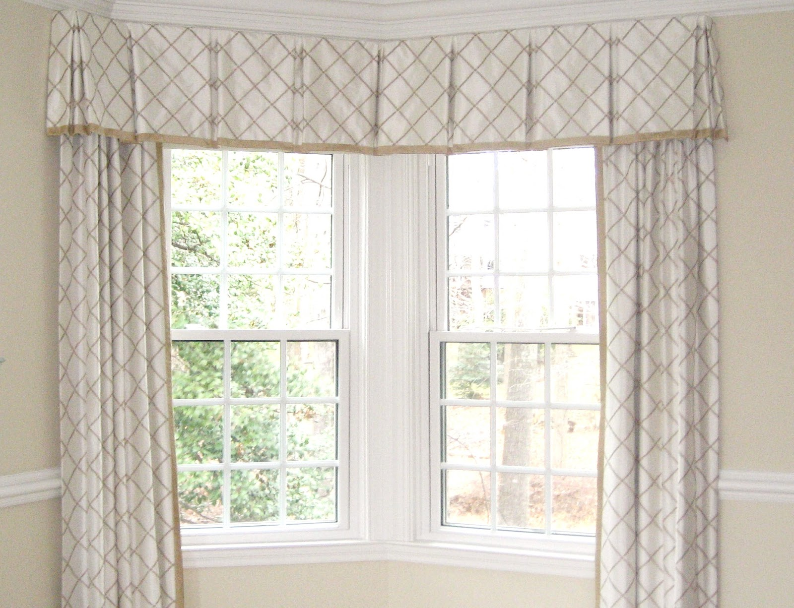 lambrequin window treatment those corner windows