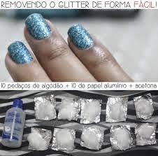 glitter unhas