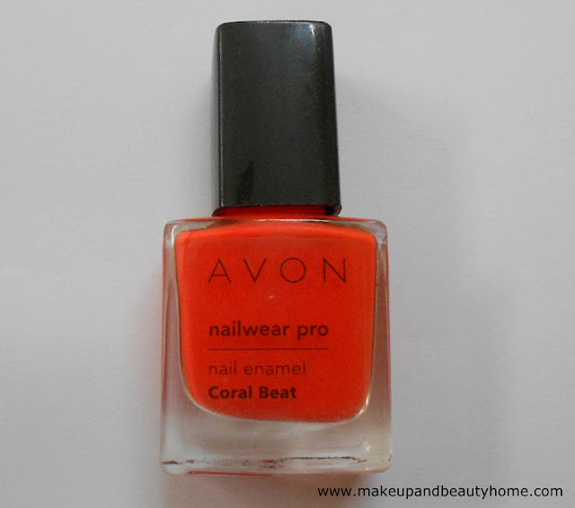 Avon nailwear pro nail enamel coral beat review swatches for Avon nail decoration brush