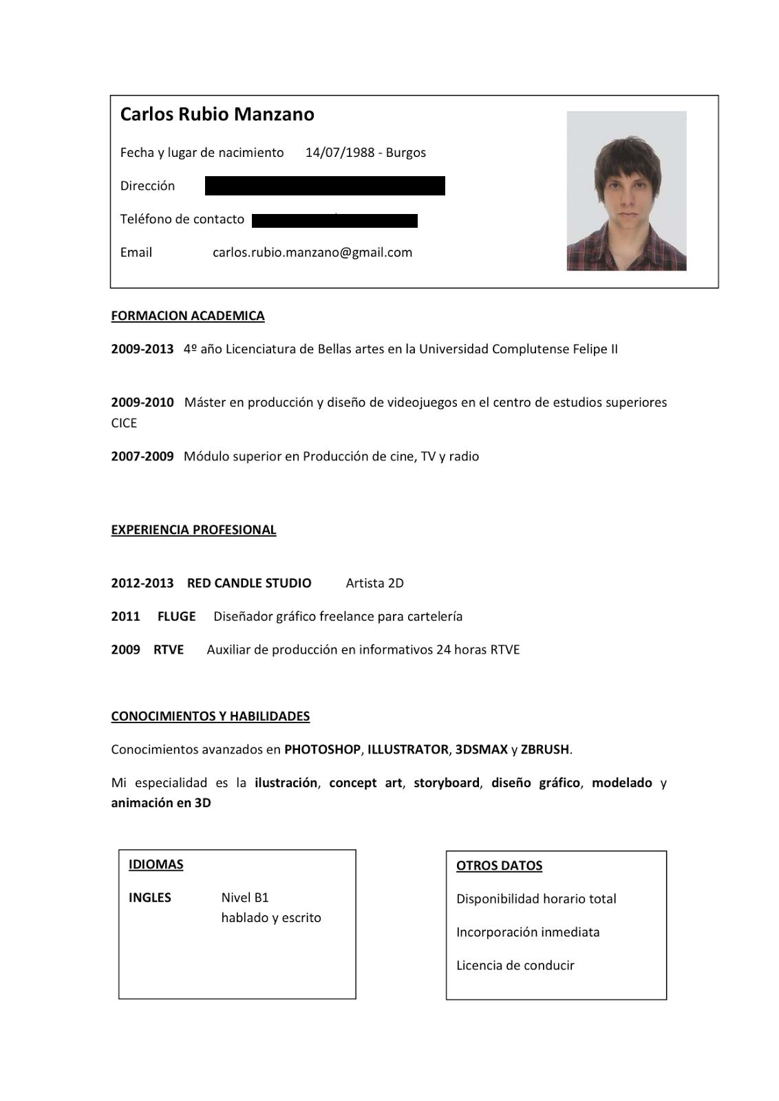 Curriculum Vitae Que Poner En Formacion Academica Lovelyrita