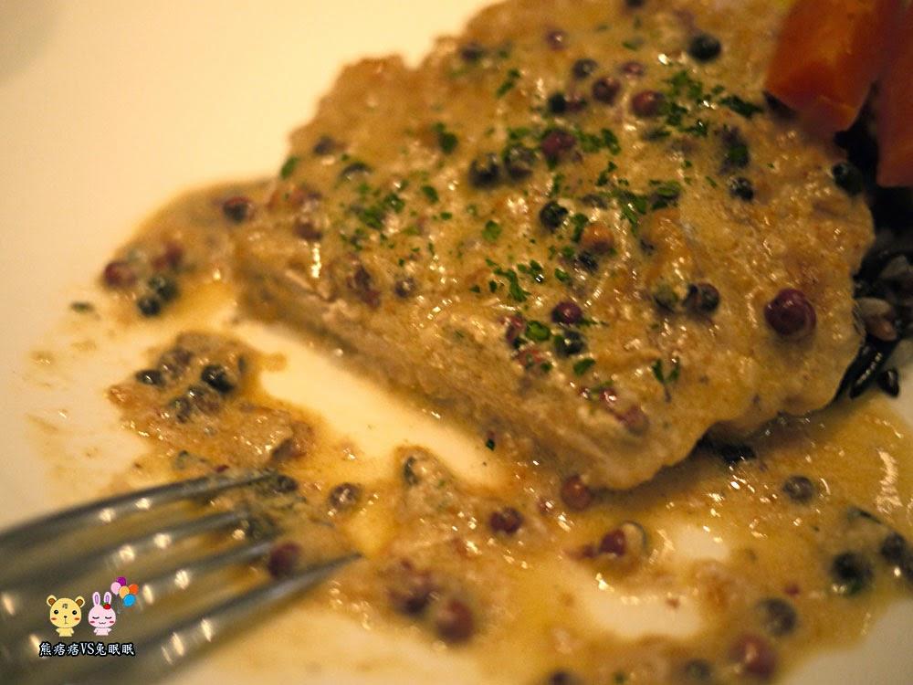 白蘭地胡椒奶油香煎豬
