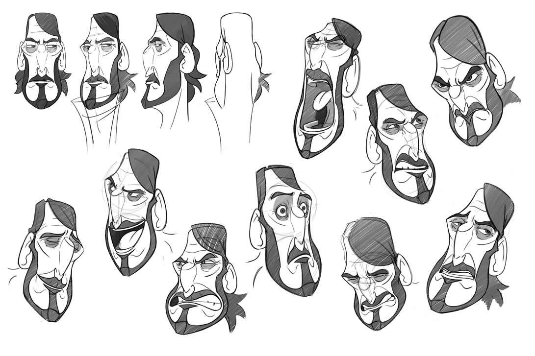 Character Design Sheet Tutorial : Facial features and expressions on pinterest character