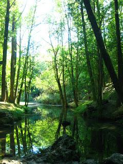 Lago en el nacimiento del río Ebro