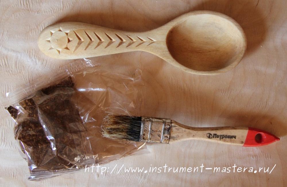 Сделать деревянную ложку своими руками