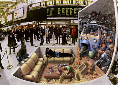 3d art with chalk - 3d street painter - kurt wenner