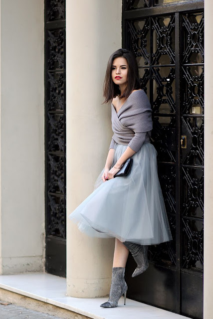 How to wear a tulle skirt, NYE outfit ideas, what to wear for the holidays