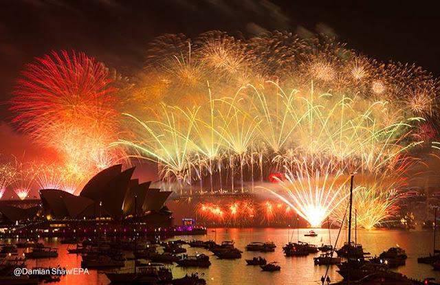 Fuegos de artificio en Australia