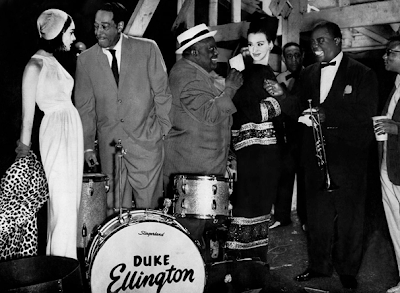 Jazz Of Thufeil - Duke Ellington, Jimmy Rushing, Louis Armstrong, Billy Strahorn with Photomodels at 1962 Newport Jazz Festival.png