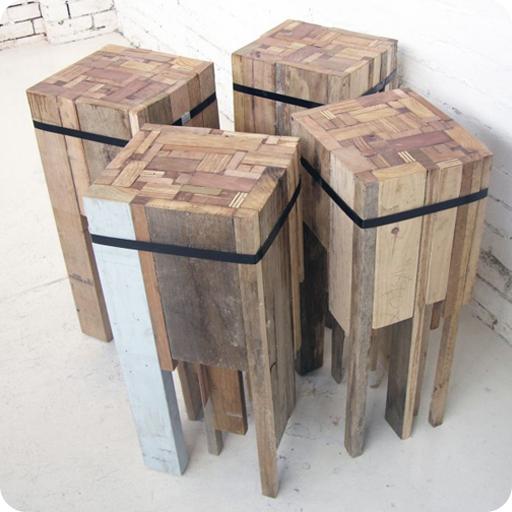 Arte y arquitectura madera reciclada bancos mesas y for Bar madera moderno