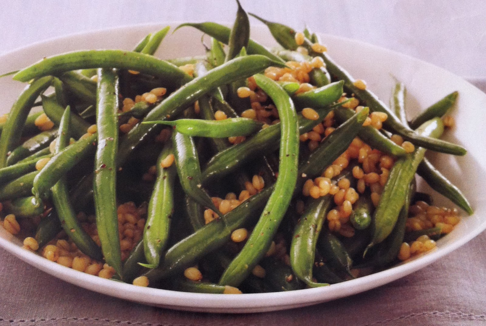 Self-Reliant Sisters: Green Bean Salad (with Wheat Berries!)