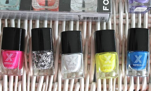 Mini Formula X Nail Polishes