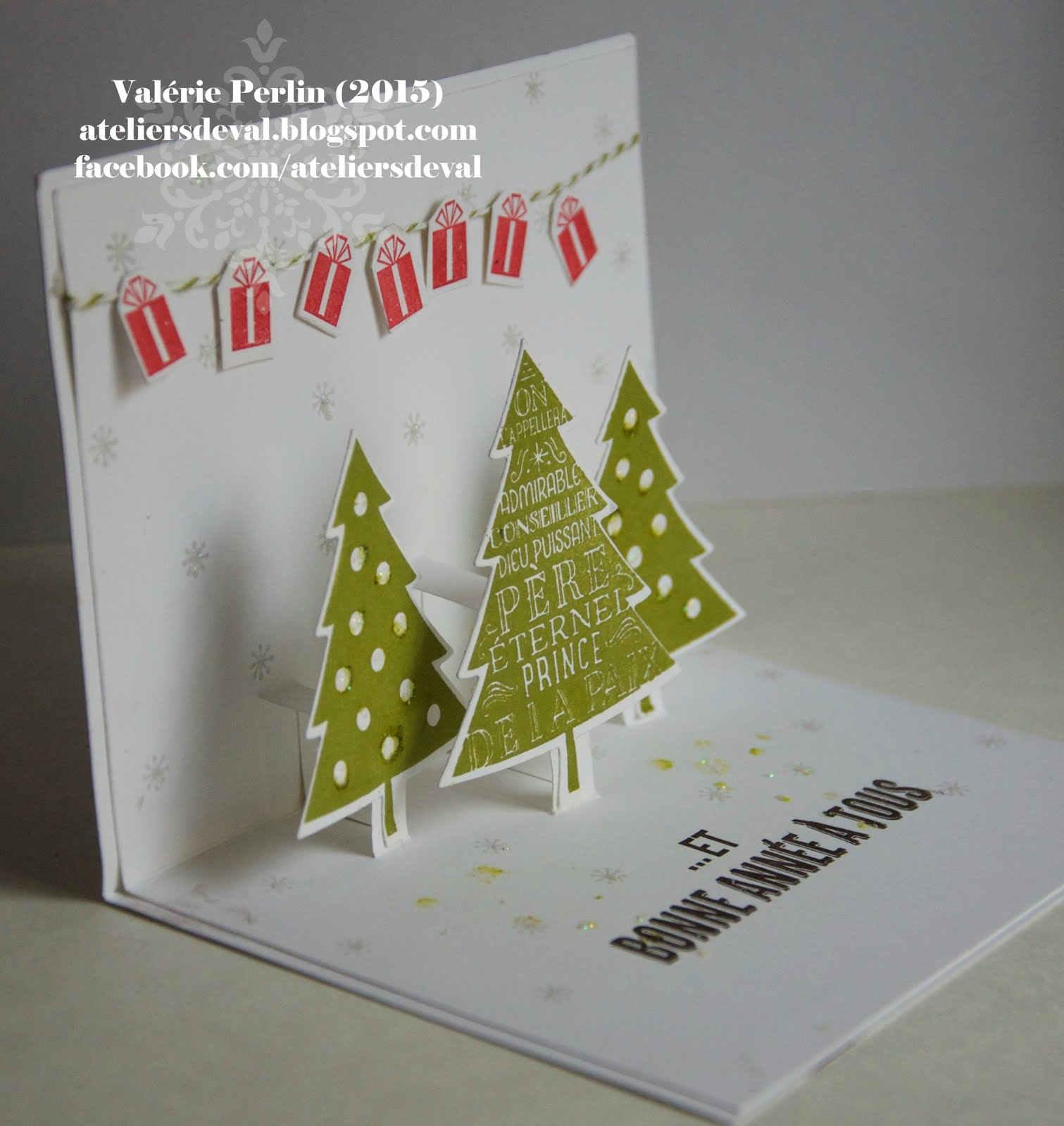 Les ateliers de val carte pop up de noel - Carte de voeux pop up ...