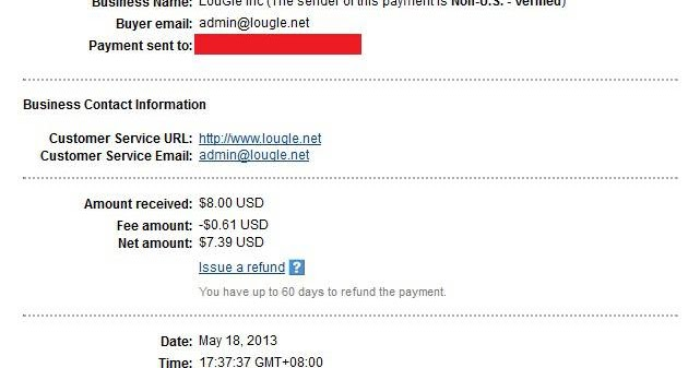 Bukti Pembayaran LOUGLE ~ Bermain PTC (Paid To Click)