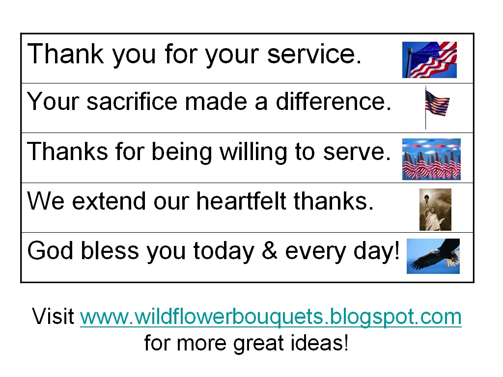 free printable words of thanks for veterans