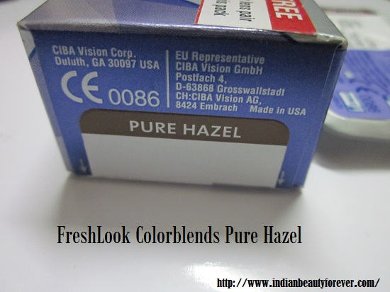 FRESHLOOK colorblends in Pure Hazel