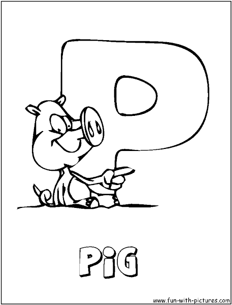 Letter P Coloring Pages Kindergarten