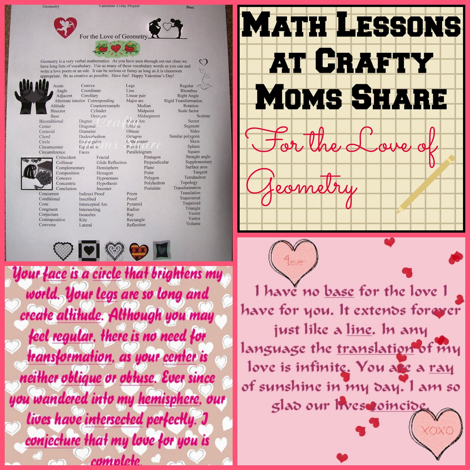 Crafty Moms Share For The Love Of Geometry Math Lessons At Crafty