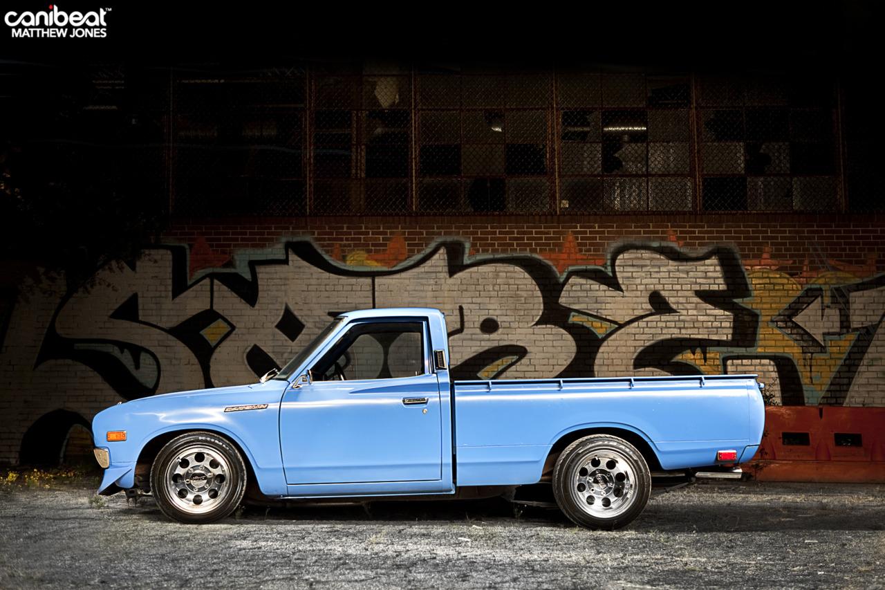 backwheelsbitches: Juan's Datsun 620 Truck