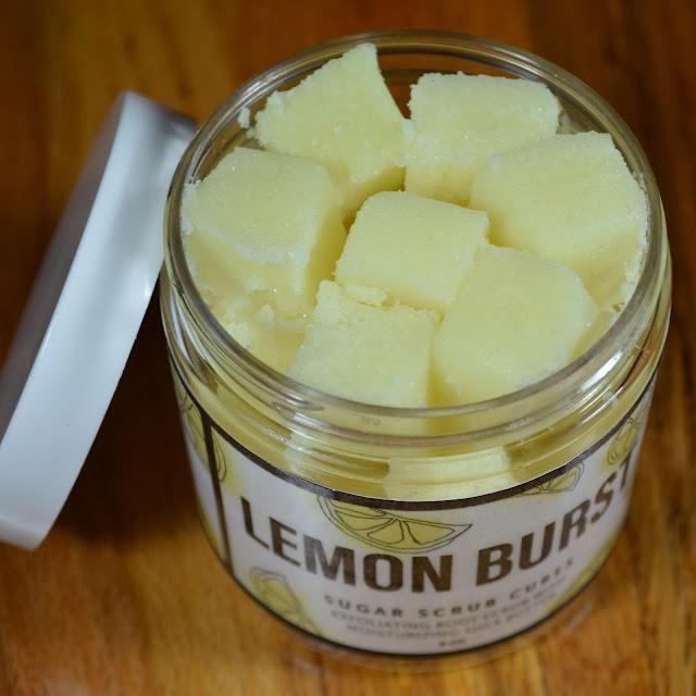 Leeloo Soap Sugar Scrub Cubes Lemon Burst