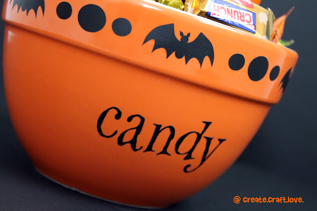 Halloween Candy Bowl via createcraftlove.com #hallowen #candybowl