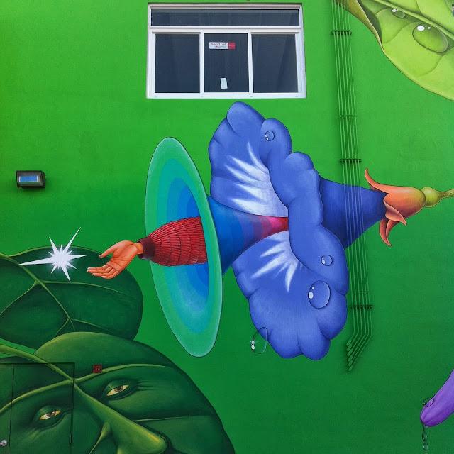 Work In Progress By Ukrainian Street Art Duo Interesni Kazki In Miami, USA. 4