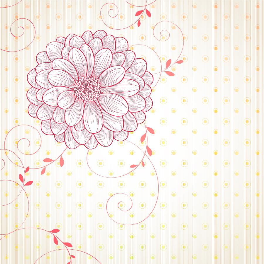 美しい大輪の花ビラの背景 flowers vectors background イラスト素材