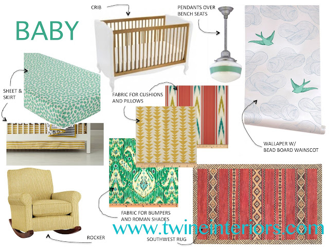 nursery design, eclectic nursery, creative fun nursery, baby room, baby boy nursery, mint nursery, yellow nursery