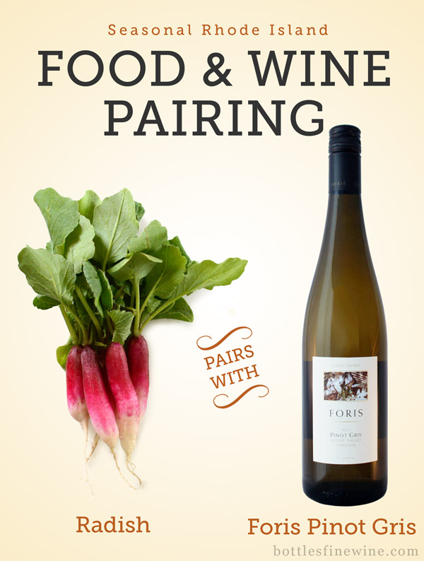 "food wine pairing radish white wine ""pinot gris"""