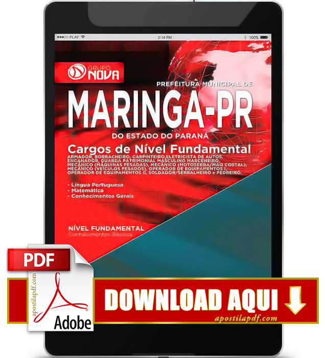 Apostila Maringá 2015 PDF Download Nível Fundamental