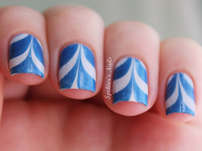 Blue White Water Marble
