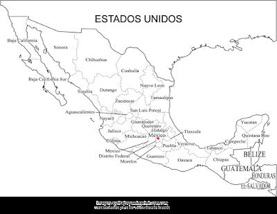 Mapa politico con nombres de México