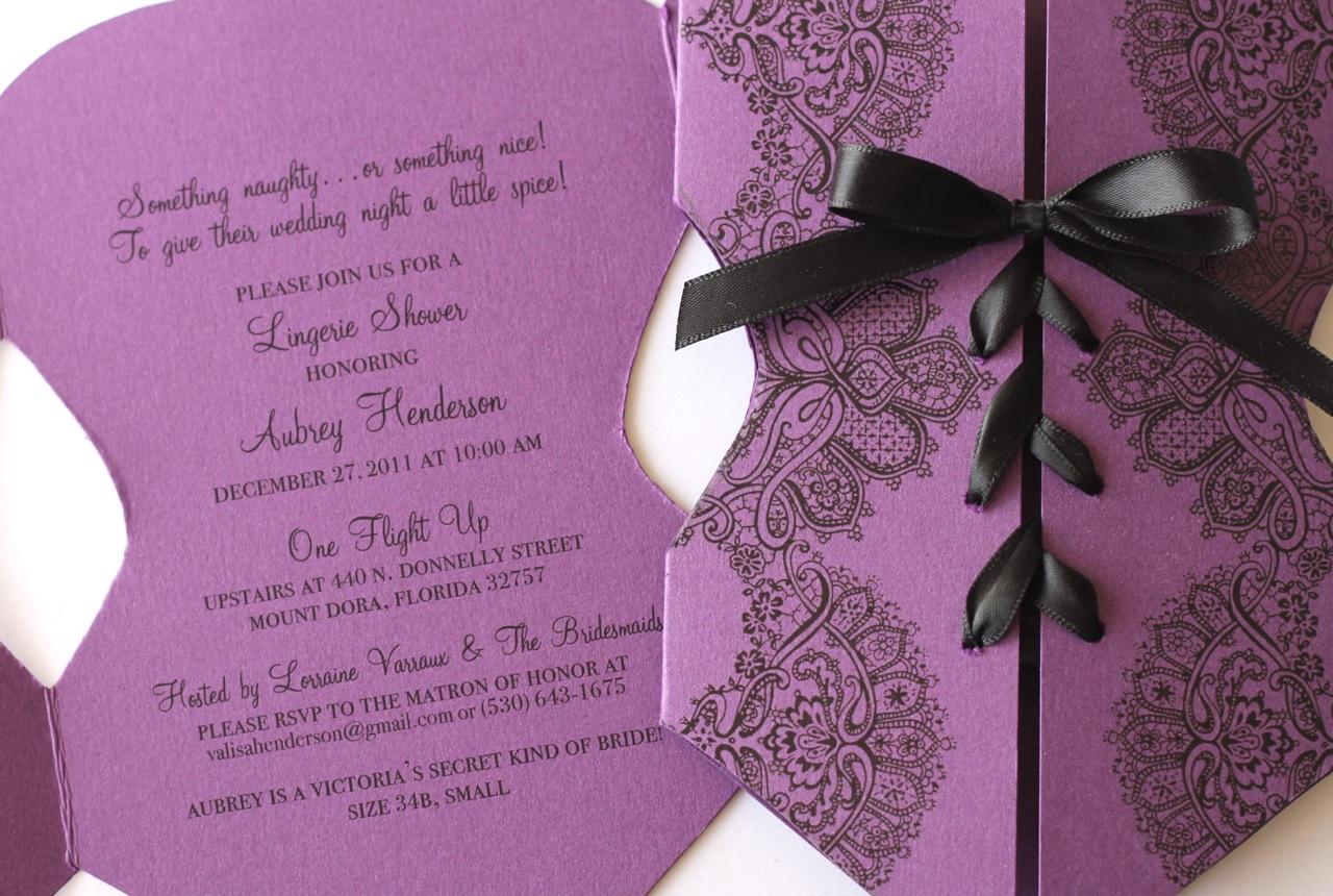 Embellished Paperie Blog   Custom Corset Lingerie Invitation in ...