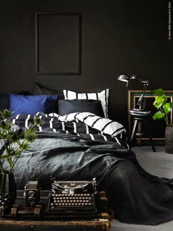 La fabrique d co peindre la chambre en noir ou en gris for Mens bedroom ideas pinterest