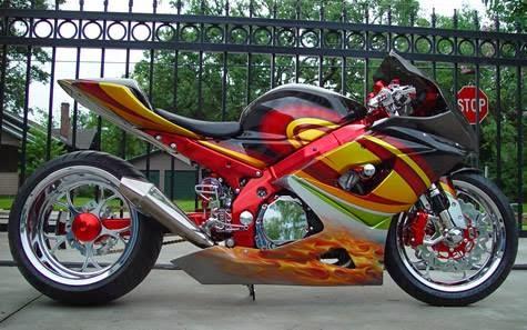 modifikasi motor sporty  paling bagus