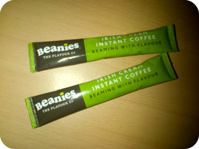 Beanies instant coffee sachets