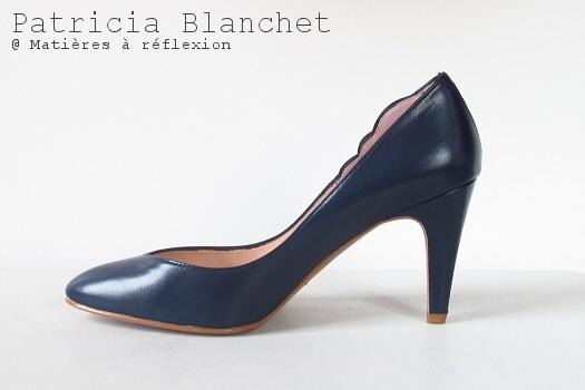 SOLDES Escarpins bleu Patricia Blanchet