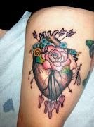 Anatomical Botanical Heart Tattoo. I got to tattoo Erica again this week.